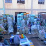Loads of rope and string on market stall