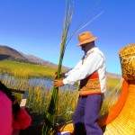 Demonstrated how to cut the reeds, and also  gave us some to taste