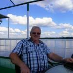 Geoff on top deck