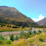 River meandering along valley