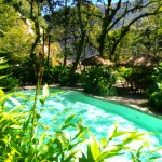 The pool below the hot springs at the Inkaterra Hotel