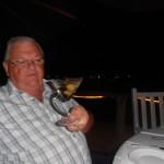 Geoff drinking Martini classico
