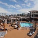Top deck pool and jacuzzi