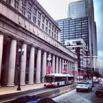 Chicago Union Station, outside in summer