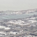 A view of The empty marina from the of Willis Tower