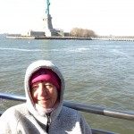 Christine, (cold)  With The Statue of Liberty in the background