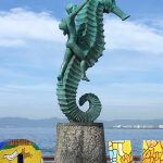 One of the many statues on the sea front