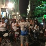 I managed to get a picture of the drummers in one of the side streets