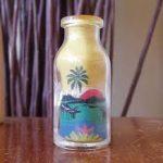 Patterned sand in a bottle