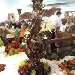 One of the many chocolate decorations