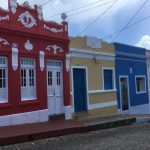 Pretty cobbled streets with colourful painted houses