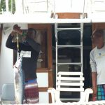 They caught three big fish, skinned, filleted and sold to local hotelier