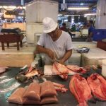 Filleting the fish, amazing to watch