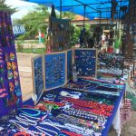 Many little market stalls selling their gifts