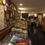 Salads, cold meats, soups, desserts, amazing spread
