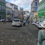 Very steep cobbled roads with lots of tiny shops selling tourist stuff