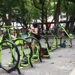Keep fit centre in the park