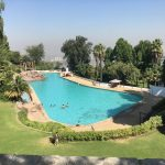The swimming pool, ideal for a family day out