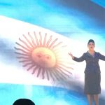 'Don't cry for me Argentina' (in Spanish) got a rapturous applause.