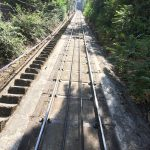 Tracks going down