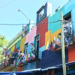 Colourful streets around the football ground