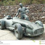 Statue in memory of Juan Manuel Fangio, F1 driver