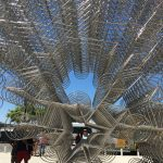 A very modern piece of artistry, 100's of bicycle's welded together