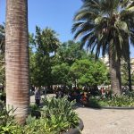 Lovely square with fountains and statues