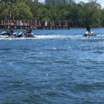 Lots of jet ski's on the waterways