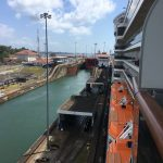 A big tanker was in the other locks with us