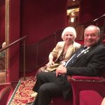 Eileen and Dave with us at the theatre