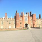 Entrance to Hampton Court, we were moored very close