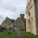 Church with vicarage, very pretty