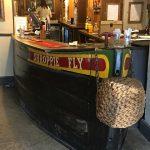 The bar inside the pub