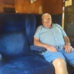 Geoff enjoying first class