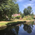 One of the many lovely properties on the canal