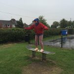 Jane enjoying a skate board