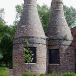 Two of the restored kilns