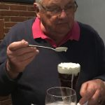 Geoff with his slimming pudding!