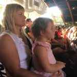 Jane and Mia enjoying the show