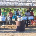 Steel band keeping up entertained