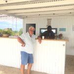 Geoff enjoying his rum punch